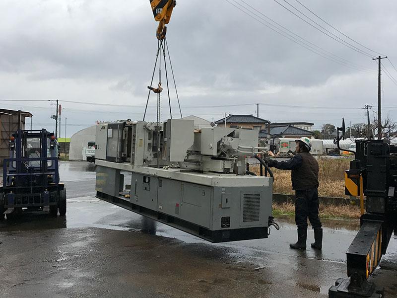 各種工作機械据付・移動・運搬・解体・組付・クレーン作業等